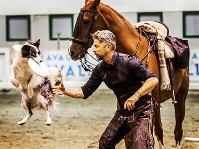 Il Game Fair vuol dire CINOFILIA - L'arte dell'HORSE DISC DOG